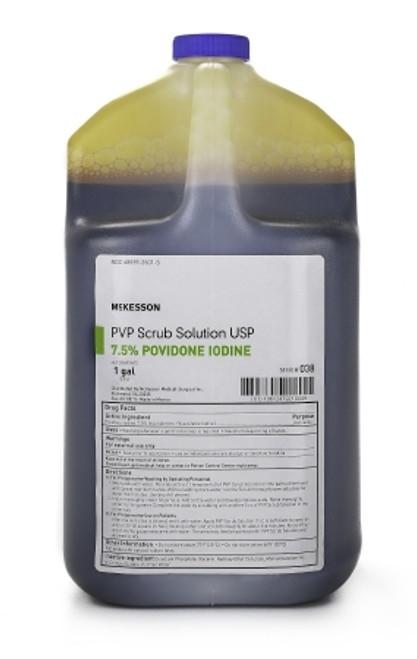 Scrub Solution McKesson 1 gal. Jug 7.5% Povidone-Iodine