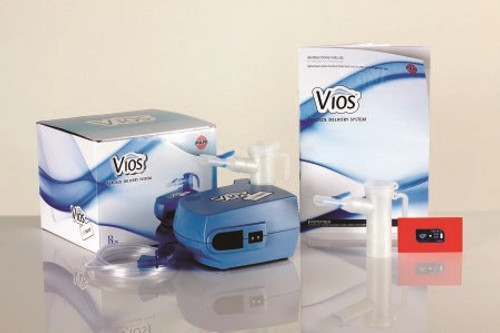 Vios LC Plus Compressor Nebulizer System Small Volume Medication Bowl Adult Mouthpiece