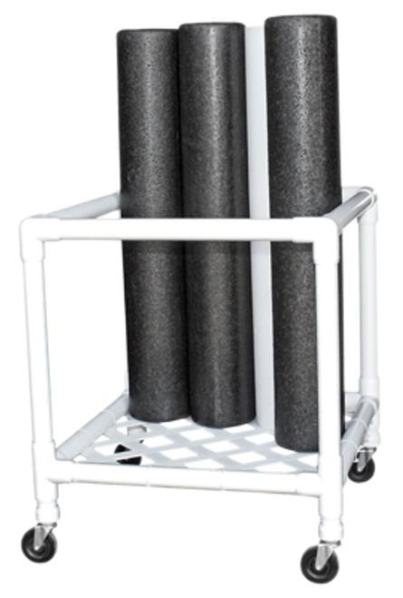 cando foam roller accessory upright storage rack
