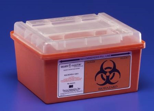Sharps-A-Gator™ Sharps Container, Slide Lid, Red, 1 Gallon
