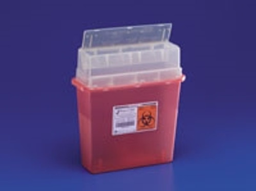 Sharps-A-Gator™ Sharps Container, Tortuous Path, Clear, 5 Quart