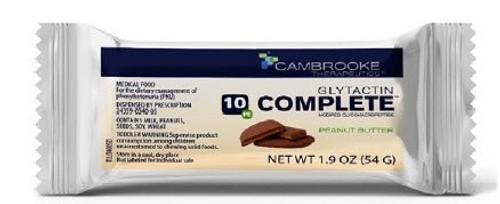 PKU Oral Supplement Glytactin COMPLETE Peanut Butter Flavor