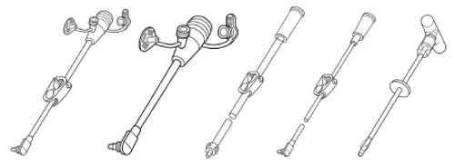Bolus Extension Feeding Tube Set MICKey With Cath Tip SECURLOK RightAngle Connector and Clamp