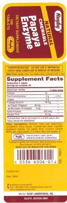 Major Pharmaceuticals Papaya Enzyme Supplement