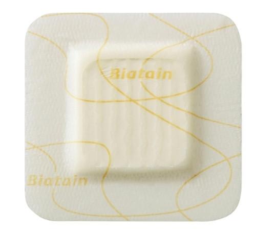 Thin Silicone Foam Dressing Biatain Silicone Lite Square Silicone Adhesive with Border Sterile