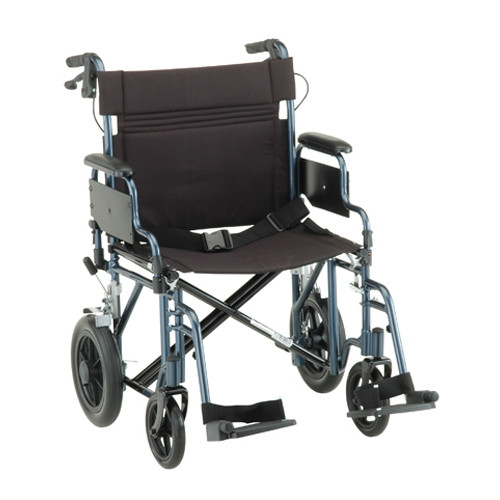 22 inch Transport Chair with 12 Inch Rear Wheels