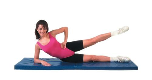 cando exercise mat center fold 2 pu foam cover