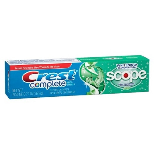 Toothpaste Crest Whitening with Scope Mint Fresh Flavor Tube