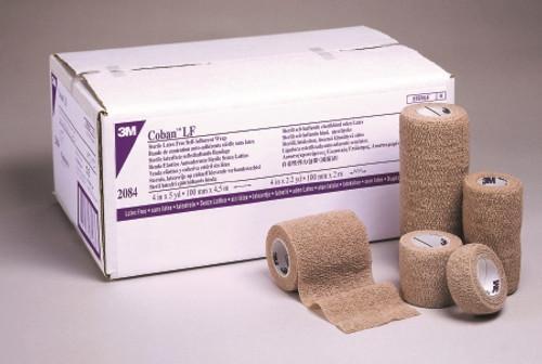 Cohesive Bandage Coban Standard Compression Self-adherent Closure Tan NonSterile