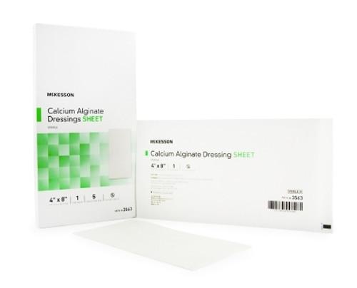 Calcium Alginate Dressing McKesson Rectangle Calcium Alginate Sterile