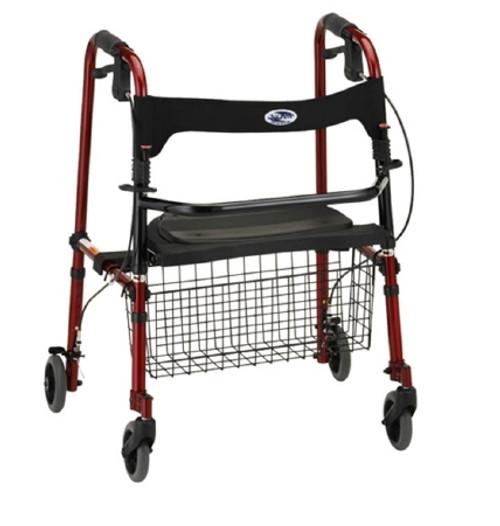 Nova Ortho-Med WALKER FLDNG 4WHEEL RED