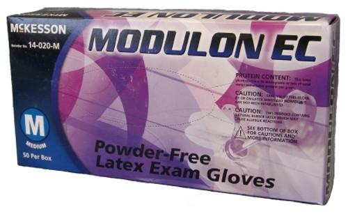 Exam Glove McKesson MODULON EC NonSterile Ivory Powder Free Latex Ambidextrous Textured Fingertips Not Chemo Approved