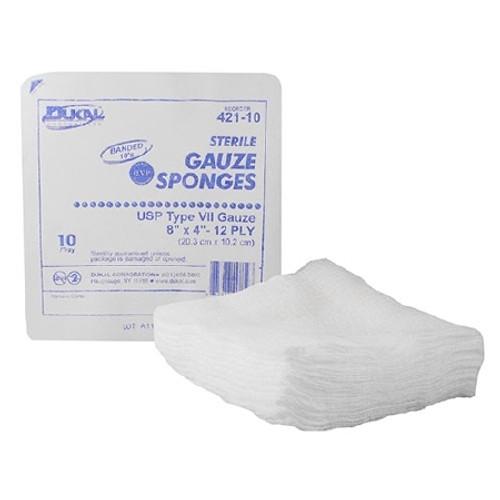 USP Type VII Gauze Sponge Dukal Cotton Sterile