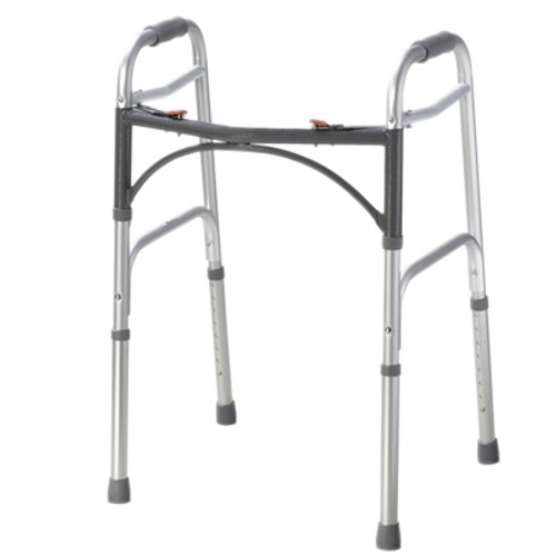 folding 2button walker adult no wheels