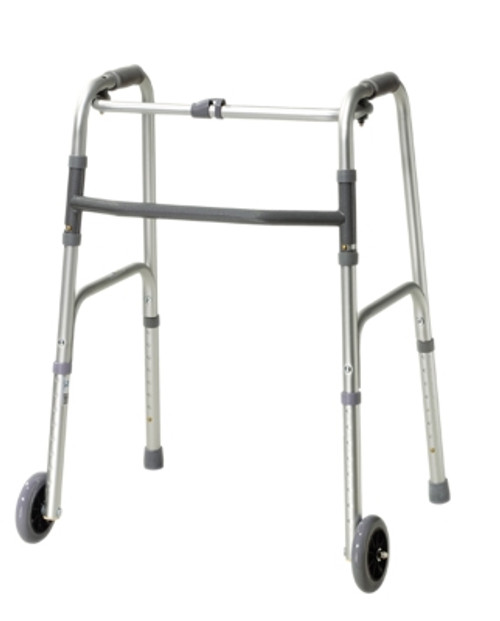 folding 2button walker 3 wheelglides adult