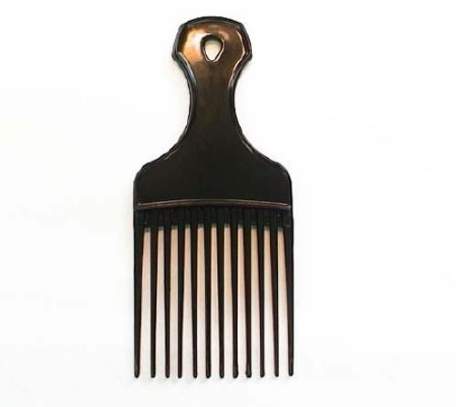 Hair Pick Cardinal Medium Black Polypropylene