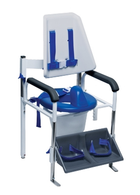 positioning commode system high back
