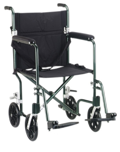 transport wheelchair aluminum blue