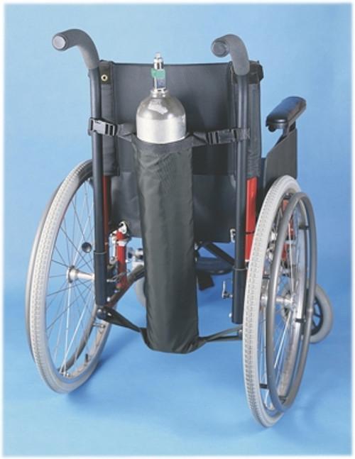 wheelchair accessory oxygen tank holder