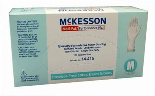 Performance Plus Exam Glove Latex Powder Free Small Non Sterile