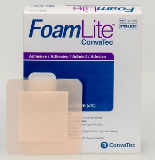 Foam Dressing FoamLite Square Adhesive with Border Sterile