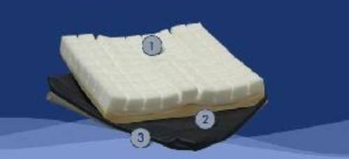 "Foam Seat Cushion - 16""x 18""x 3.5"""