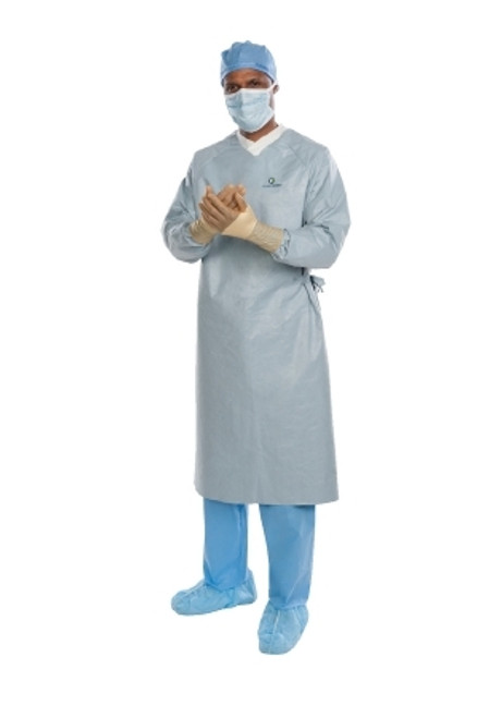 Breathable Surgical Gown with Towel AERO CHROME Unisex AAMI Level 4 Sterile Silver