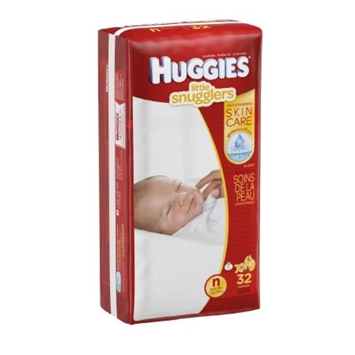 Baby Diaper Huggies Little Snugglers Tab Closure Newborn Disposable Heavy Absorbency