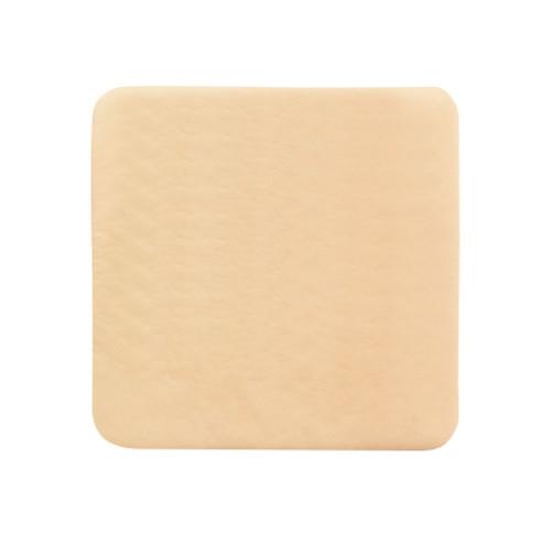 Thin Silicone Foam Dressing McKesson Lite Square Silicone Gel Adhesive without Border Sterile