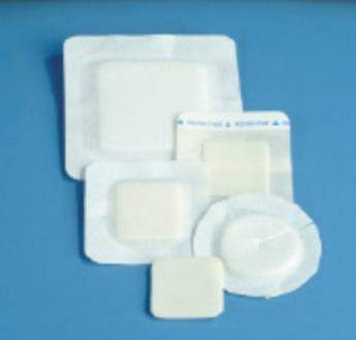 Foam Dressing Polyderm Border Diameter Fenestrated Round Non Adhesive with Border Sterile