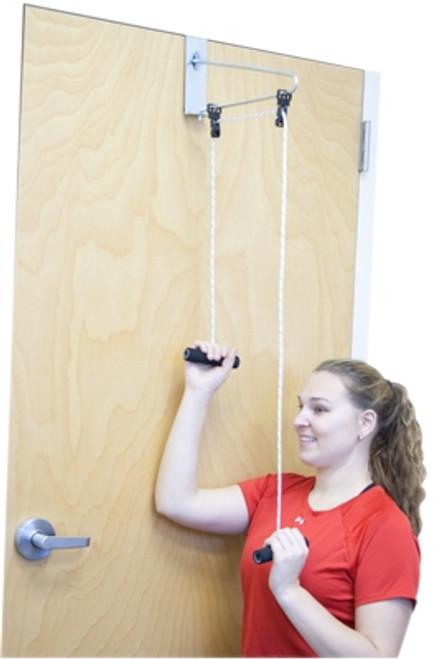 overdoor shoulder double pulley door bracket