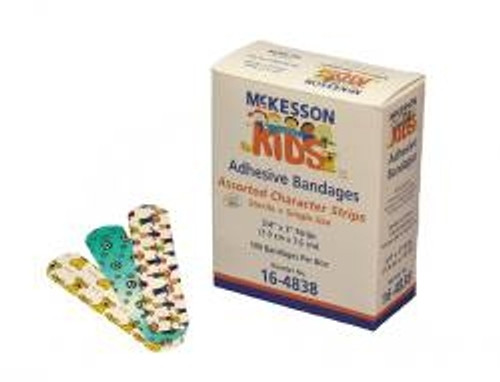McKesson KIDS Adhesive Bandages - Assorted Character Strips