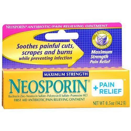 Burn Relief w/ Antibiotic, Neosporin - 0.5 oz.