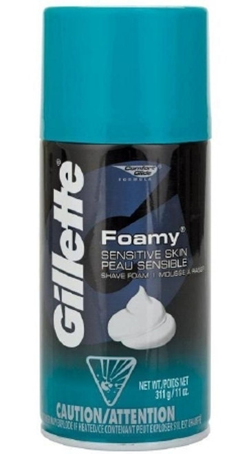 Shaving Cream Gillette Foamy Aerosol Can