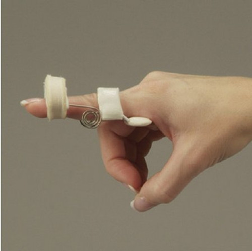 Finger Extension Assist DeRoyal Spring Coil Wire / Foam White Large