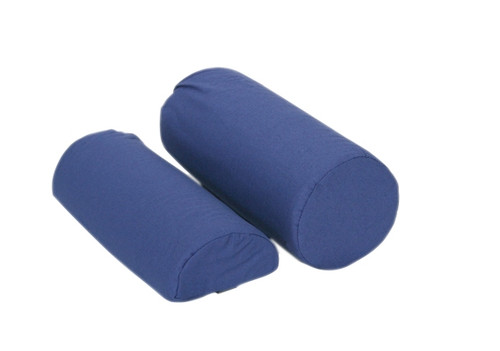 roll pillow half round navy blue cottonpoly cover