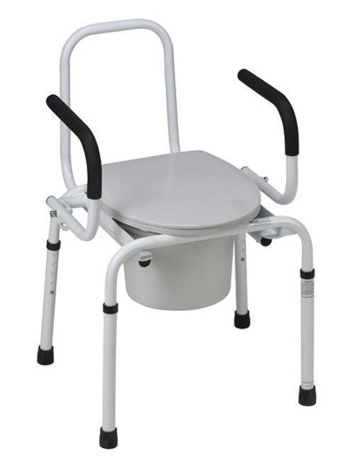 Drop-Arm Bedside Commode