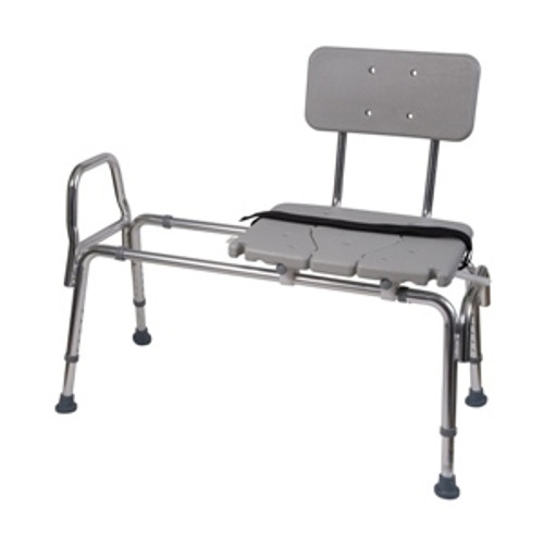 Heavy-Duty Sliding Transfer Bench Shower Chair