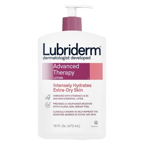 Lubriderm Advanced Therapy Moisturizer 16 oz. Pump Bottle Scented Lotion
