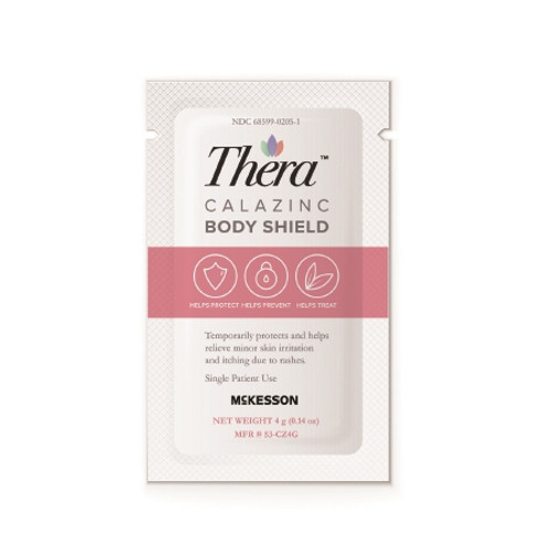 Thera Calazinc Body Shield Skin Protectant 4 Gram Individual Packet Scented Cream