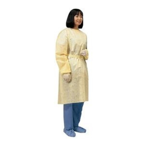 Cardinal Health Lightweight Isolation Gown with Ties Universal, Yellow, Spunbonded Polypropylene