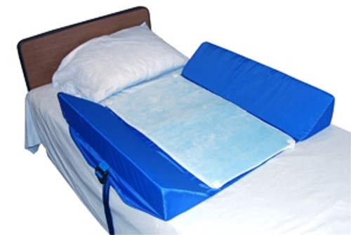 Bed Support System with 2 Attached 30-Degree Bolsters and Pad
