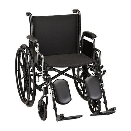 20 Inch Steel Wheelchair Detachable Desk Arms and Elevating Leg Rests