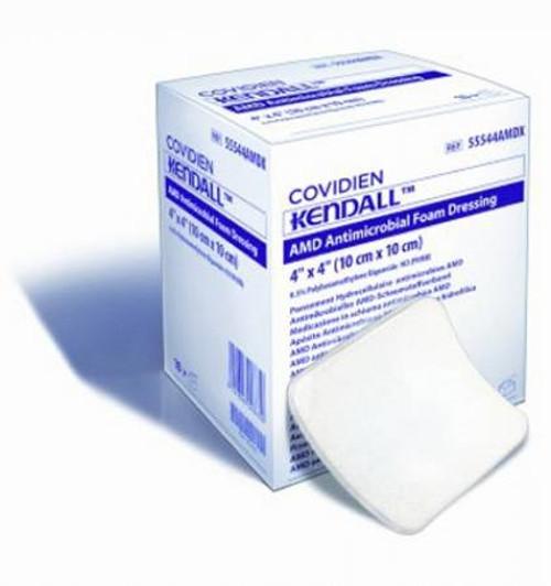 Impregnated Foam Dressing Kendall AMD  Hydrophilic Polyurethane Foam Polyhexamethylene Biguanide (PHMB) Sterile