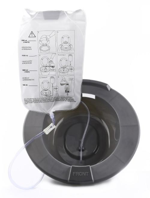 McKesson Round Graphite Plastic Sitz Bath