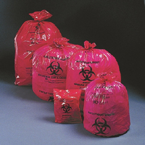 Medi-Pak SAF-T-SEAL Red Infectious Waste Bags
