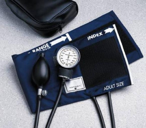 Aneroid Sphygmomanometer, Pocket Style, 2-Tube, Adult Arm