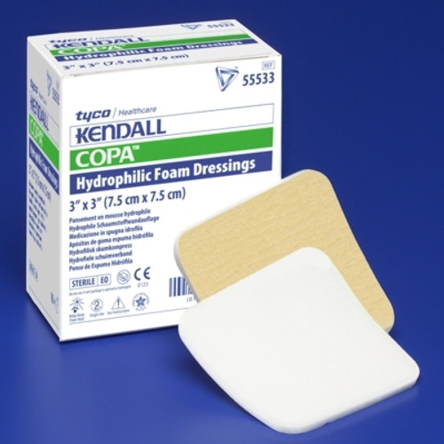 Foam Dressing Kendall Foam Plus  Square Non-Adhesive without Border Sterile