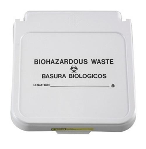 Hamper Label, Biohazardous Waste - Black Lettering, pack of 5