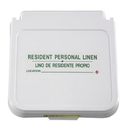 Hamper Label, Resident Personal Linen - Green Lettering, pack of 5